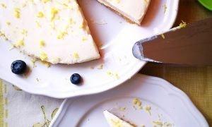 Cheesecake de limón | Pastel de limón y queso sin horno