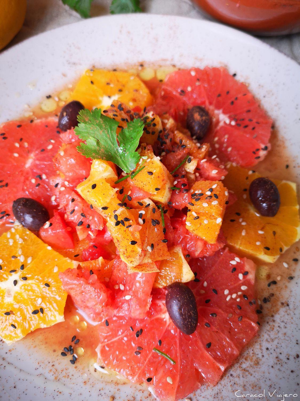 Ensalada de naranja y canela marroquí | Salata al-burtuqal