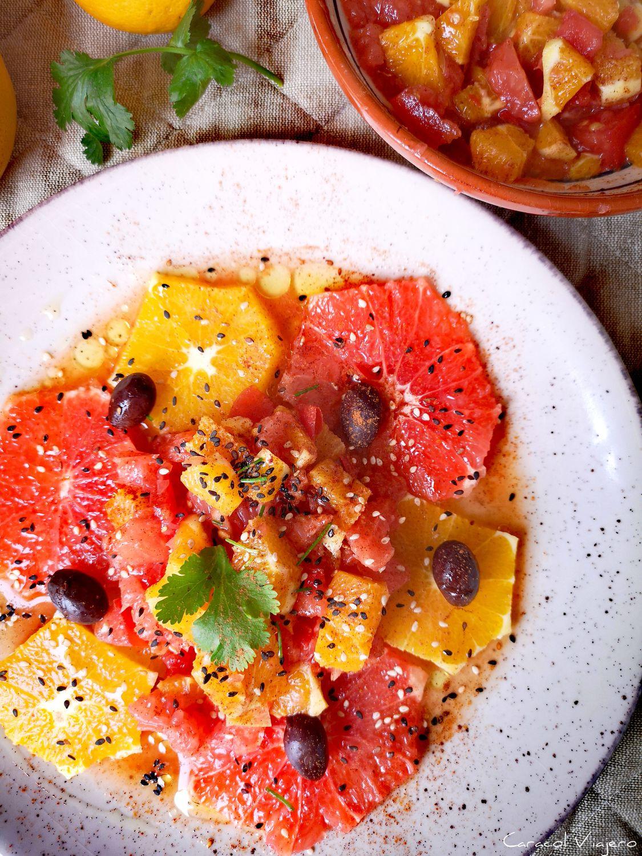 Ensalada de naranja marroquí