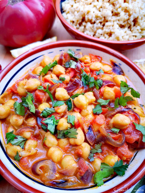 Chana masala | Curry de garbanzos con garam masala hindú