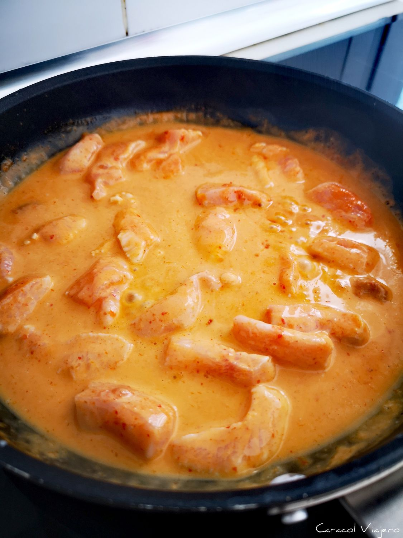 panang de pollo