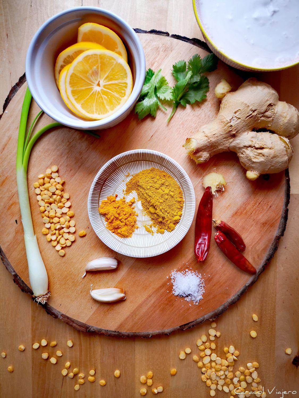 curry de lentejas amarillas