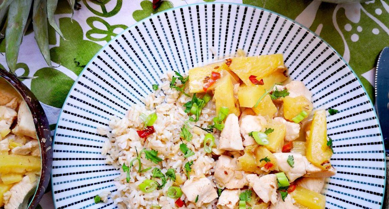 Pollo al curry con piña | Receta fácil en 20 minutos